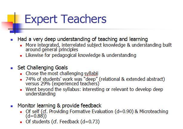 expert-teacher